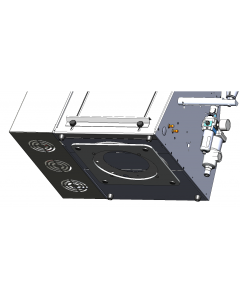"""SB-10 Swivel Base Assembly (T-300/T375) Swivel base allows for turning of the unit 365 degrees, to gain access to the back of the unit quickly and easily.  """"Lazy-Susan"""" bearing assembly, 4 position detent function to prevent turning while in operation."""