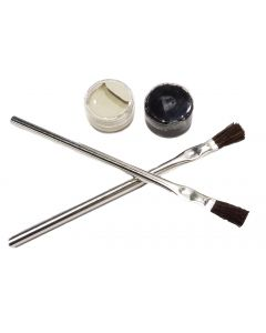 Touch-Up Kit for APP Equipment.  The kit includes our Tan (Silk Grey) and Black gloss  paints along with two small paint brushes.   Note:  Just about every system will incur scratches or minor damage as a result of handling during the crating, shipping, u