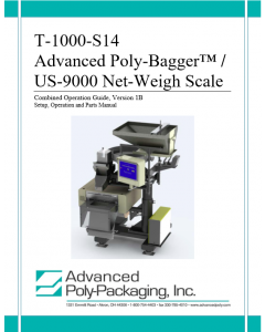 US-9000 Operations Manual Version 1B. This version applies to Model US-9000 Serial Numbers from 214120038 - 218011423.