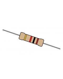 Resistor, 1KΩ 1/4 W 5%