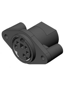 5-Pos Black PLC Receptacle, w/ wires