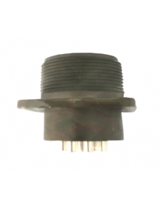 10-Pin Circular Female Connector (Box Receptacle), Metal Housing, Contact Plating: Silver, Voltage Rating: 500/700, 200/250 VAC/VDC, Current Rating: 13A