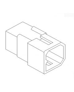"4-Pin .093"" Square Power Conn (plug)"