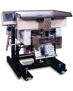 Model US-5000 Semi-Automatic Netweigh-Counting Scale provides for fast change-overs (less than one minute).  Part sampling allows for single piece weight calibration, or simply enter the piece weight.  When integrated with bagging systems, the US-5000 add