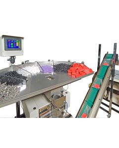 """Model US-5500 Semi-Automatic """"Kit"""" Netweigh Scale provides for fast change-over from one kit to the next.  Part sampling for each part in the kit allows for single piece weight calibration or simply enter the piece weight.  Recipe management is standard w"""