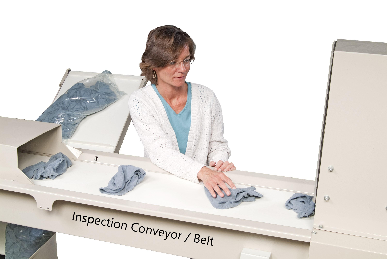 Towel Bagger Inspection Belt