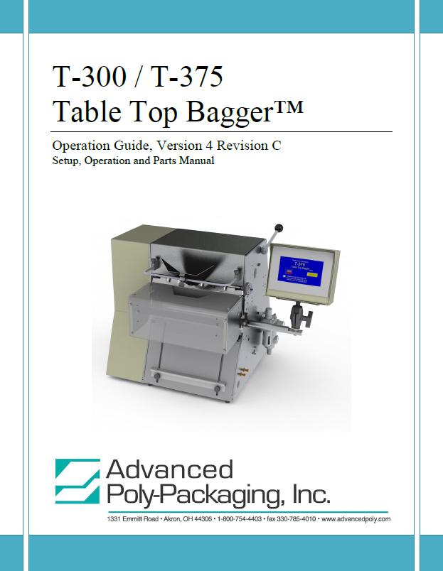 Tabletop Bagger Manuals