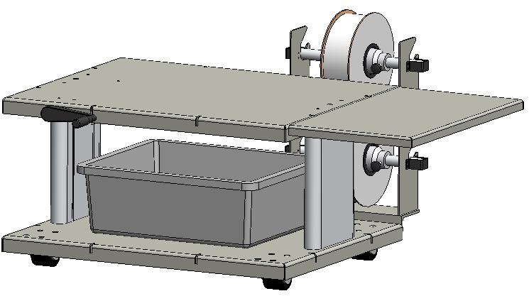 ST-10 Cart, Tabletop Bagger Adjustable Cart