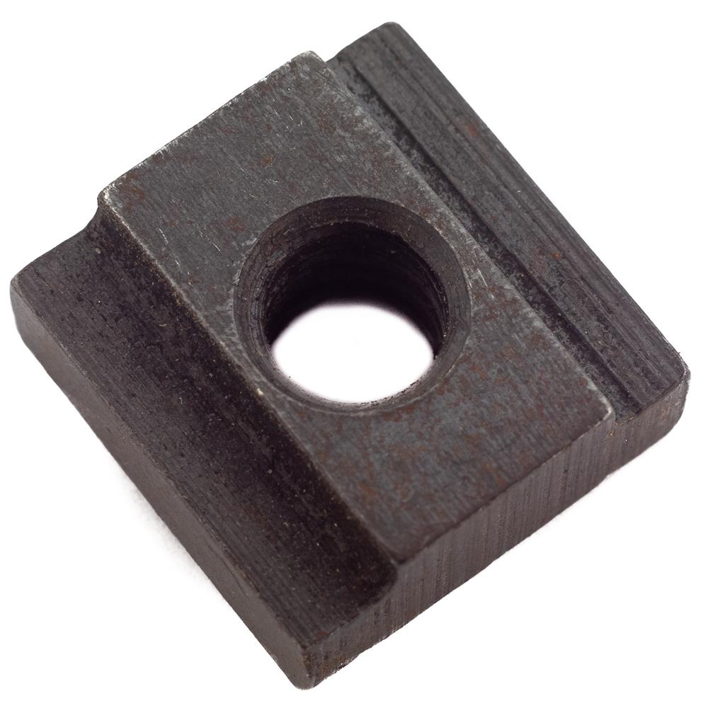 Nut,1/4-20 T-Slot,Black Oxide Steel