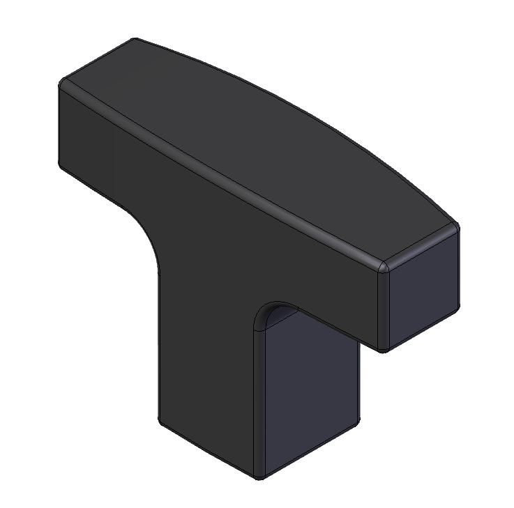 T-Handle Small 1/4-20 x1.57 Plastic