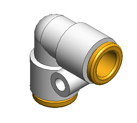 """1/4"""" Union Elbow, Air Fitting"""