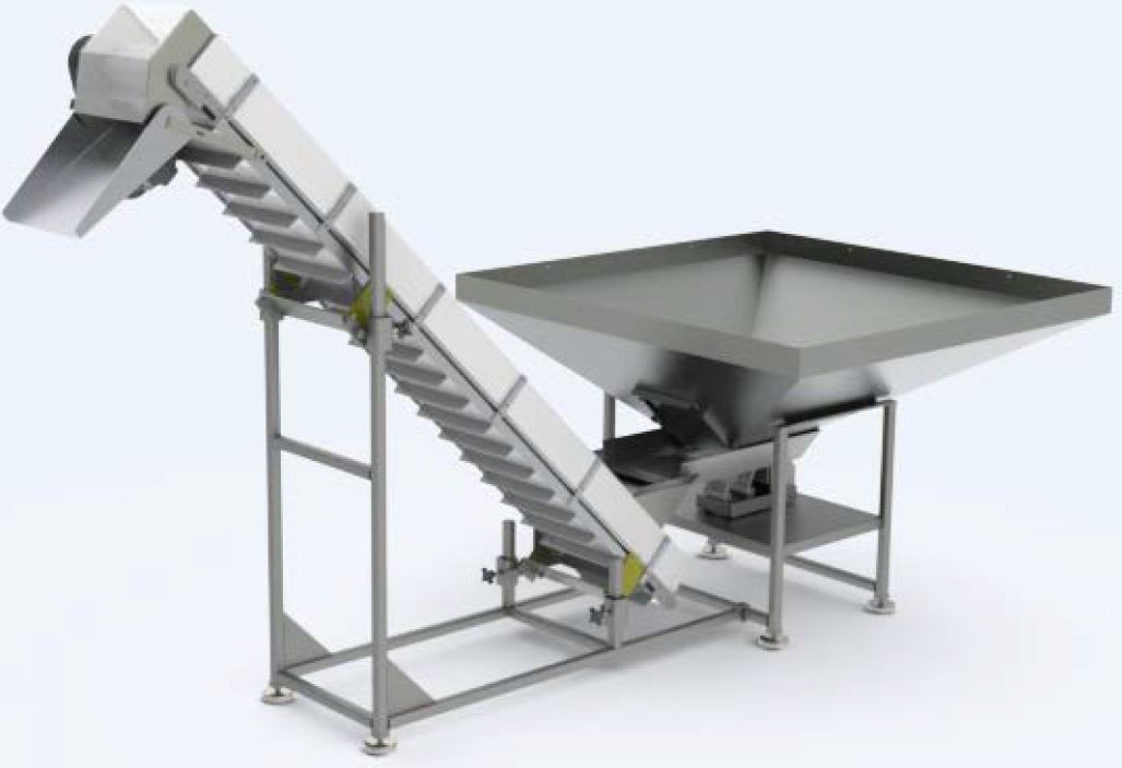 UF-3040 Vibratory Hopper/ Pan-Feeder Conveyor System