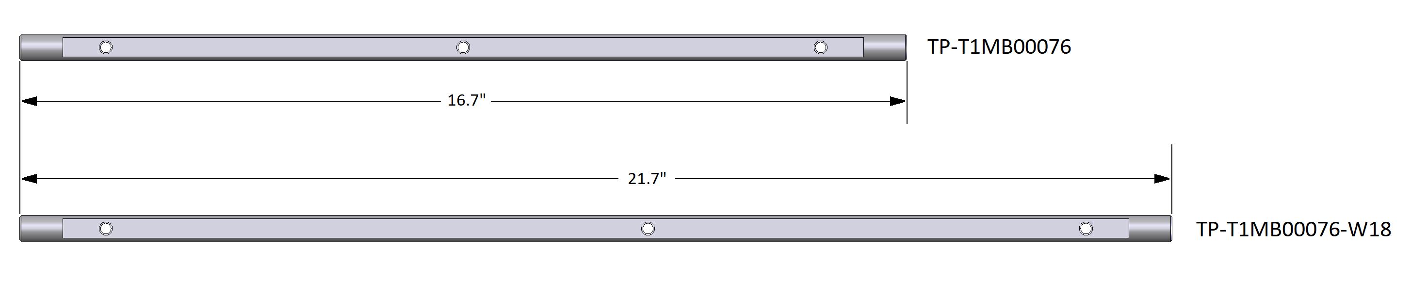 Fixed Load Shelf Rods
