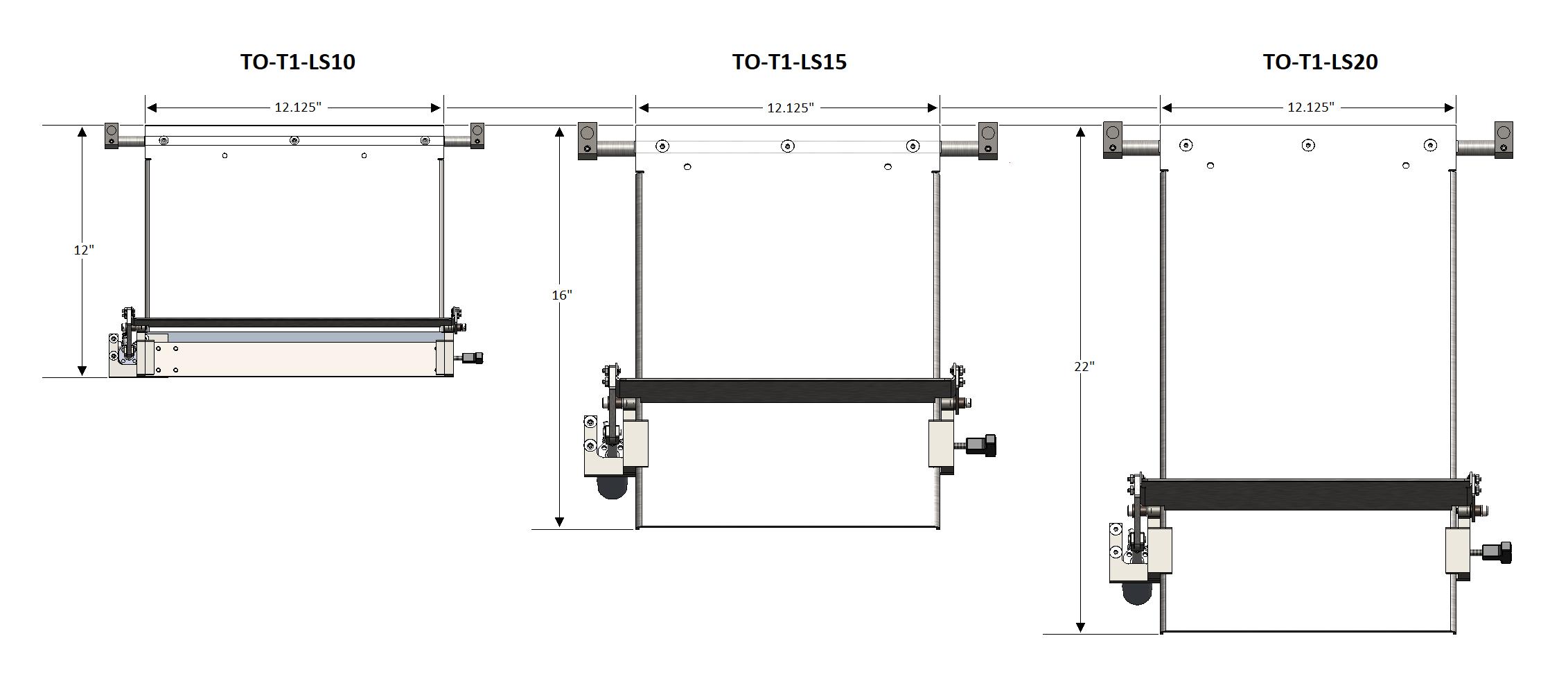 T-1000-S14 LSXX Sizes