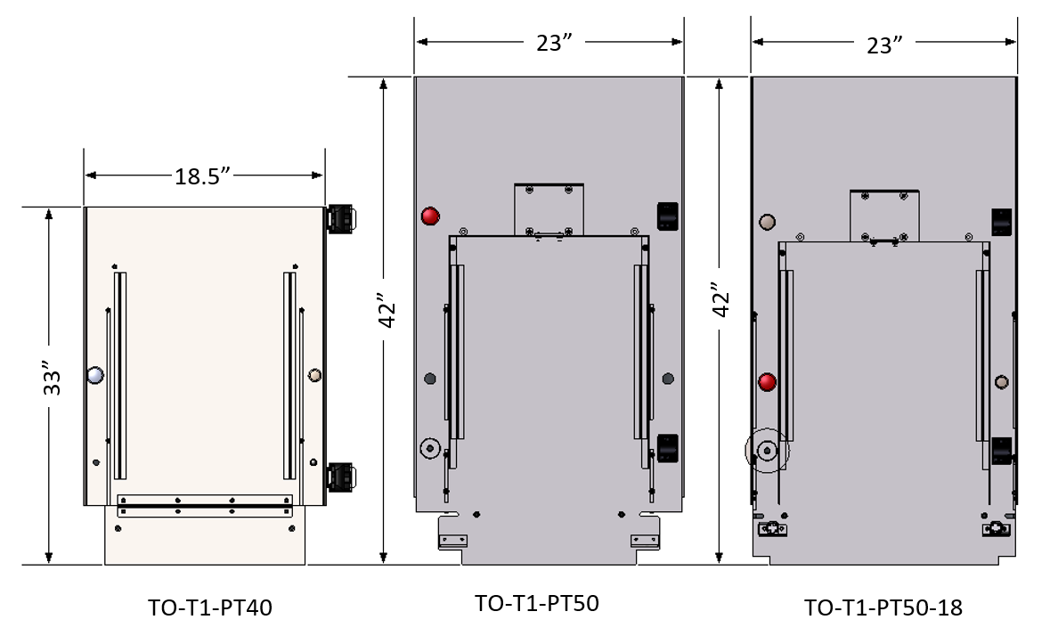 TO-T1-PTXX Comparisons